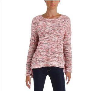 Aqua Lexi Pullover pink Boucle Fringe Sweater